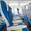 airplane seats stock