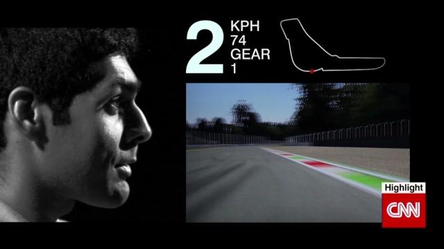 Speeding through Monza circuit