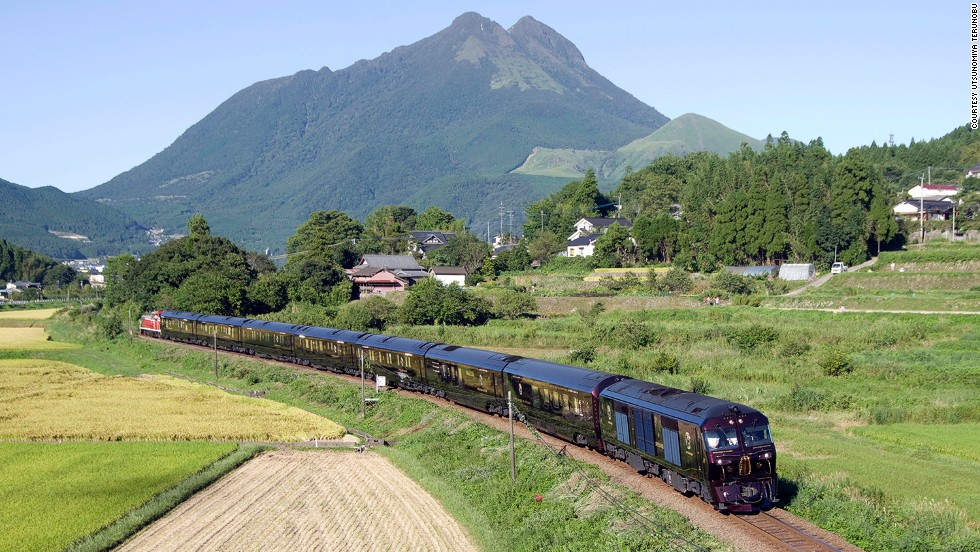 "The ""Seven Stars in Kyushu"" is Japan's most luxurious train, featuring seven carriages that hold just 30 people in 14 suites. The train offers two itineraries: a two-day option, which stays around Fukuoka, or a four-day journey that does a loop of the southern Japan island."