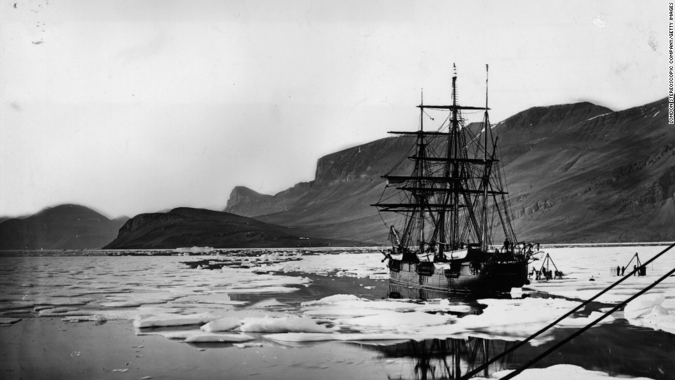 "Following Franklin's doomed expedition, other UK vessels followed later in the 19th century -- including HMS Alert, seen here, which formed half of the <a href=""http://en.wikipedia.org/wiki/British_Arctic_Expedition"" target=""_blank"">""British Arctic Expedition""</a> in the mid-1870s."