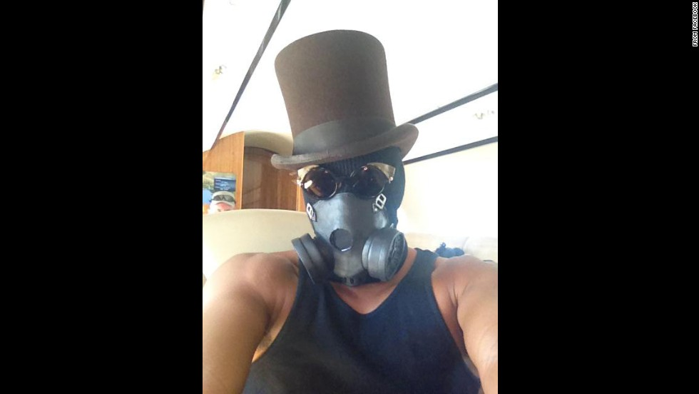 "Actor Will Smith donned a gas mask for this <a href=""https://www.facebook.com/WillSmith/photos/a.10150451669175161.638119.92304305160/10154514594250161/?type=1"" target=""_blank"">Facebook selfie</a> on Sunday, August 31. ""Headed to Burning Man!!"" Smith wrote, referring to the annual festival in Nevada."