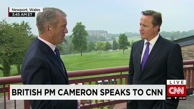 British PM speaks with CNN