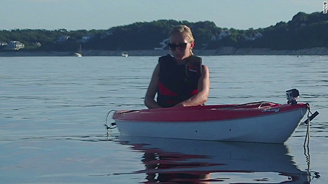 Great white shark attacks kayakers