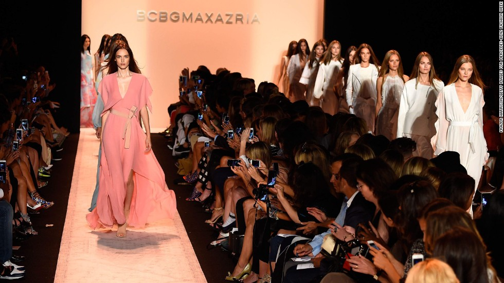 Lubov and Max Azria debuted their spring BCBGMAXAZRIA collection on the first day of the event.
