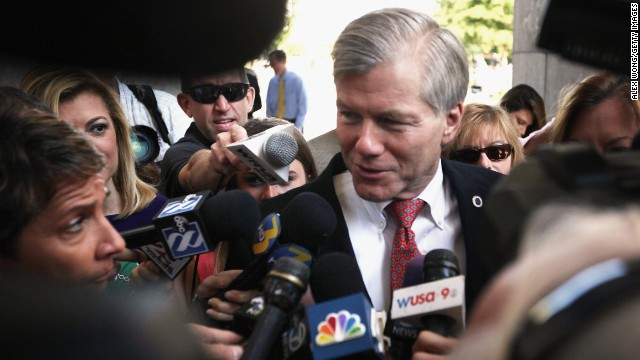 RICHMOND, VA - SEPTEMBER 04:  Former Virginia Governor Robert McDonnell arrives at his corruption trial at U.S. District Court for the Eastern District of Virginia September 4, 2014, in Richmond, Virginia. McDonnell and his wife Maureen are on trial for accepting gifts, vacations and loans from a Virginia businessman in exchange for helping his company. The jury will begin its third day of deliberations today.   (Photo by )