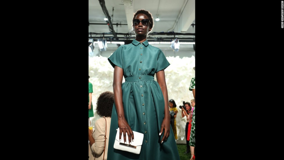 Kate Spade's spring collection incorporated her signature ladylike and playful silhouettes.