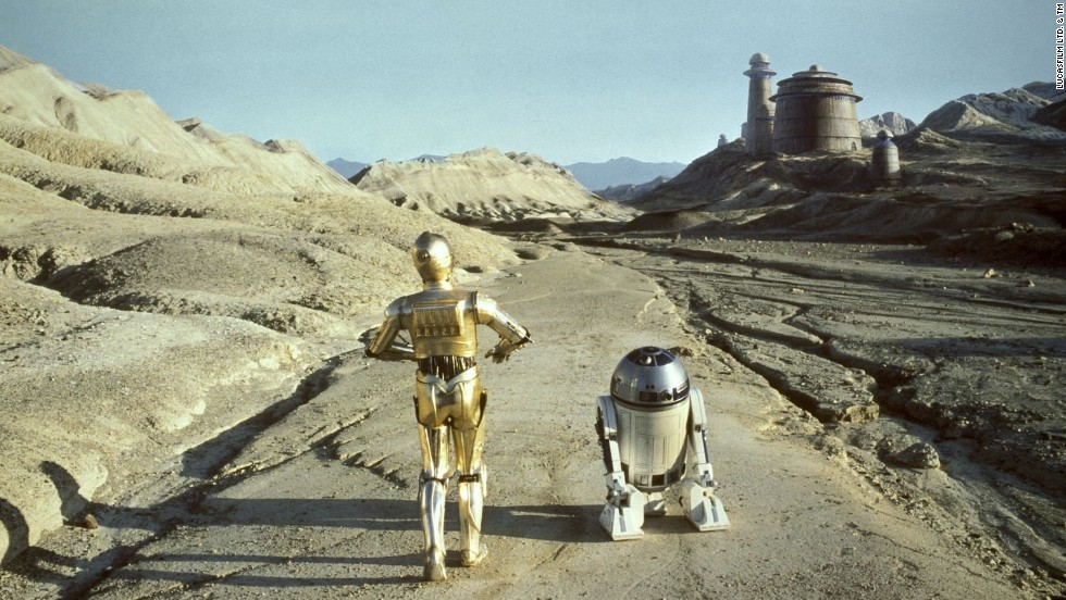 "Human-friendly robots C-3P0, left, and R2-D2 in the ""Star Wars"" series."