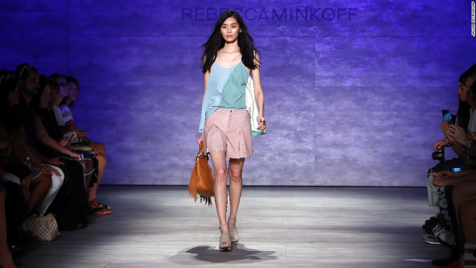 Rebecca Minkoff styled a model in pastel separates.