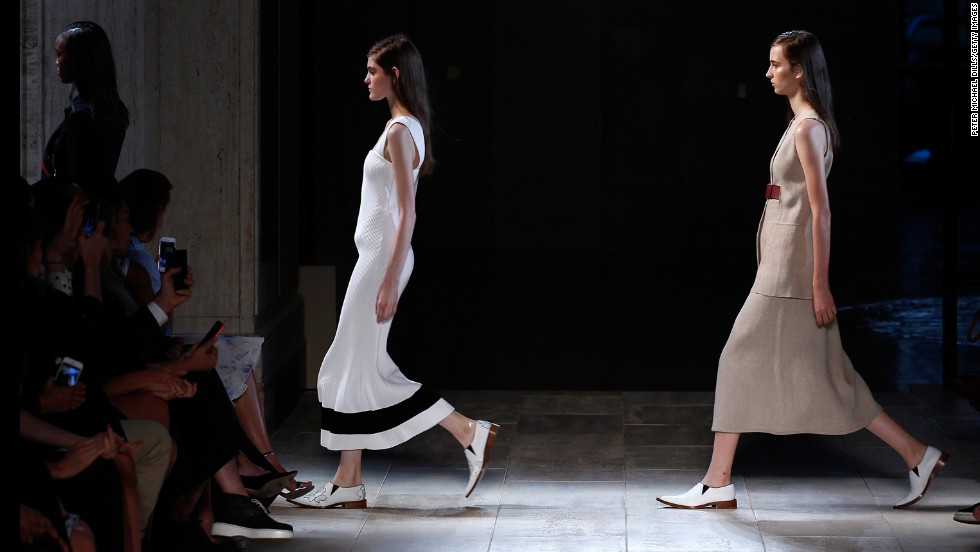 Victoria Beckham showed her sleek spring collection on the fourth day of the event.