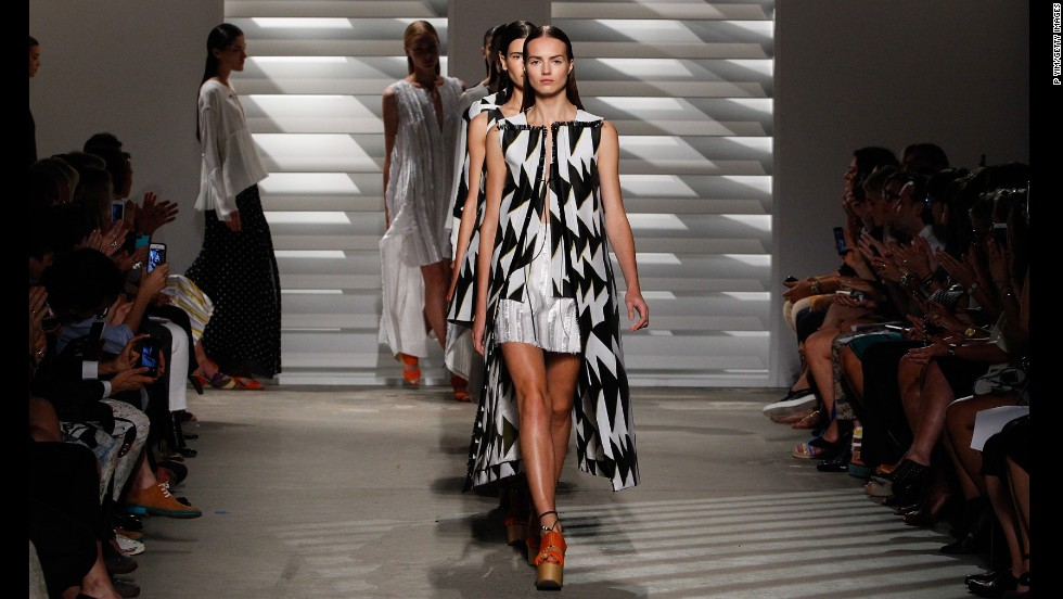 Models walked the runway in Thakoon's spring 2015 collection on September 7.