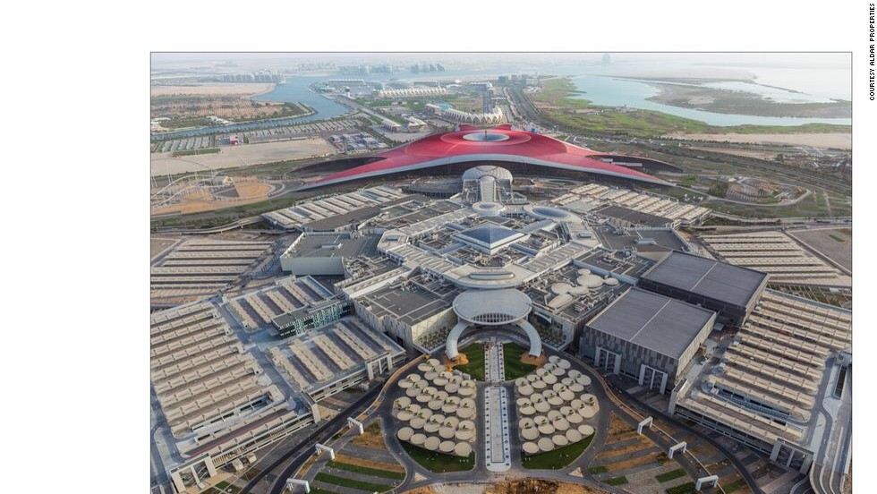 At first glance, it could be fantastical spaceship. In fact, this is Abu Dhabi's newest shopping complex -- Yas Mall.
