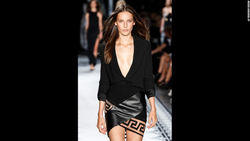 Donatella Versace teamed up Anthony Vaccarello for the Versus Versace spring collection on September 7.