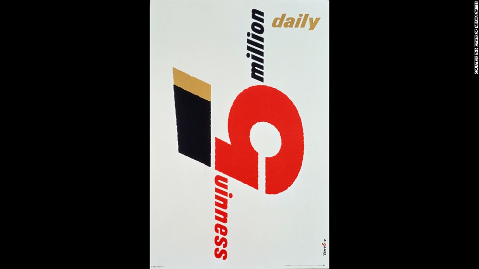 Games' posters for Guinness (including this 5 million Guinness Daily poster from 1958) were a universal hit with consumers.