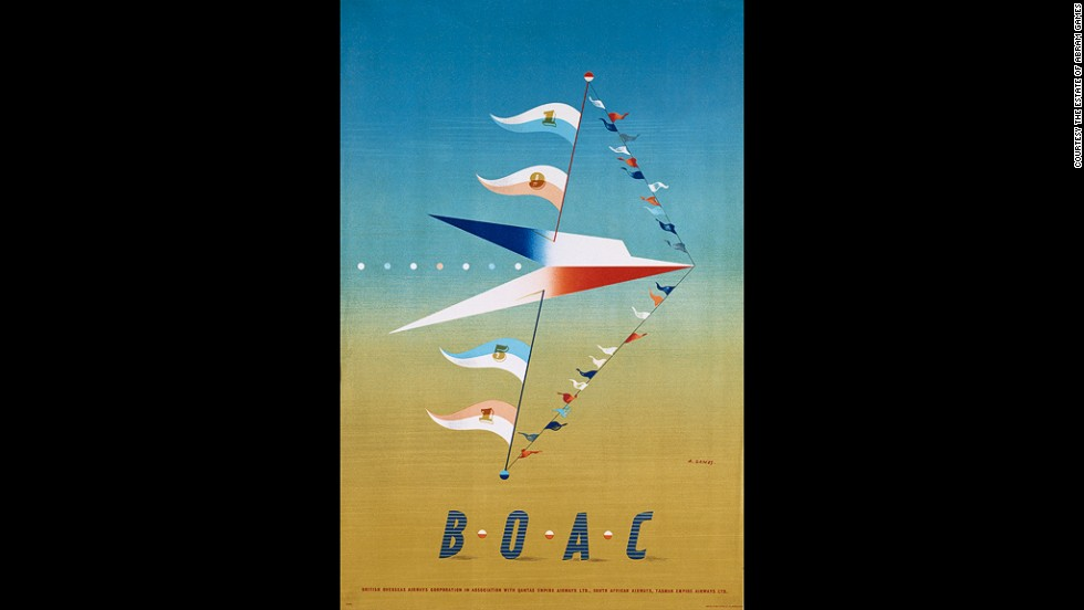 A poster for the British Overseas Airways Corporation, 1950
