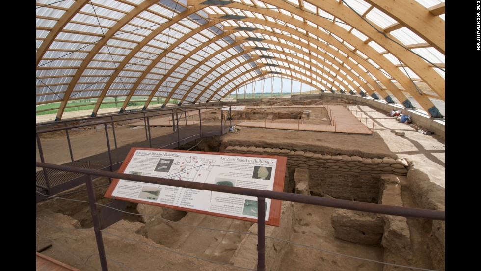 "One of the earliest known towns in the world, <a href=""http://whc.unesco.org/en/list/1405/ "" target=""_blank"">Catalhoyuk</a> is a nearly 10,000-year-old example of a well-preserved Neolithic village in Turkey."
