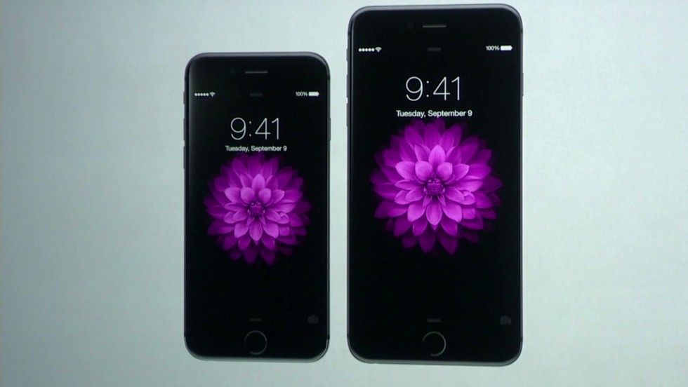 The iPhone 6 is available in two sizes, including the 5.5 inch iPhone 6 Plus.