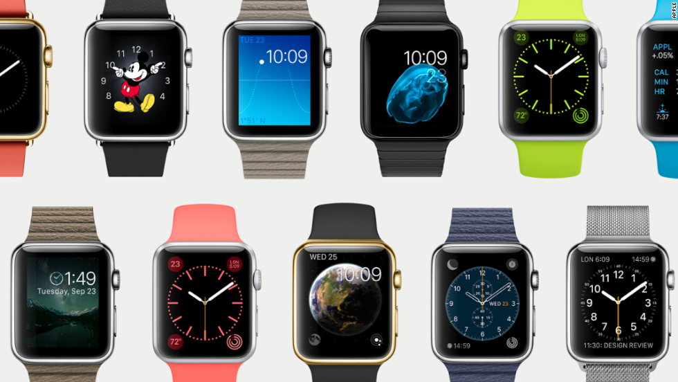 The Apple Watch was announced at the iPhone 6 launch. Specs, including memory, battery life and screen resolution, are yet to be revealed.