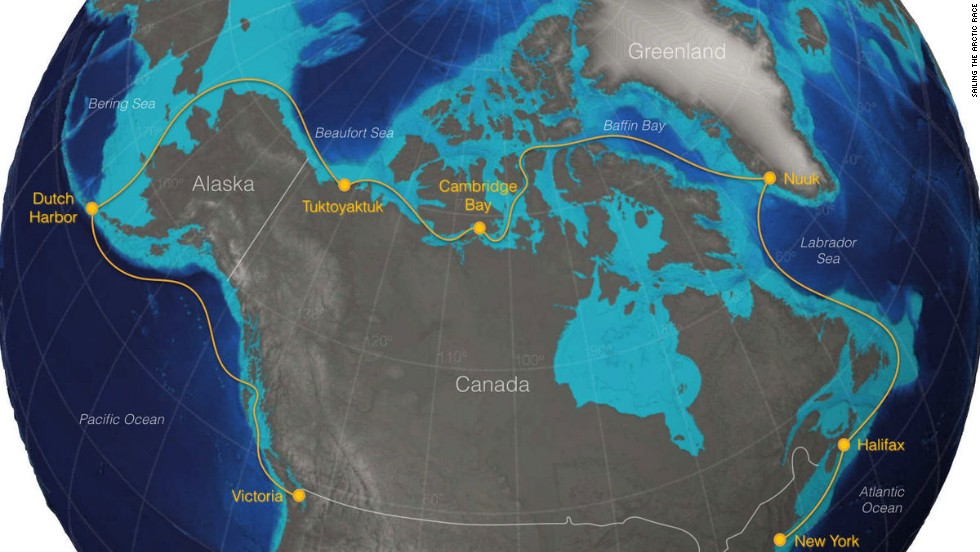 This is the route proposed by Sailing the Arctic Race organizer Robert Molnar.