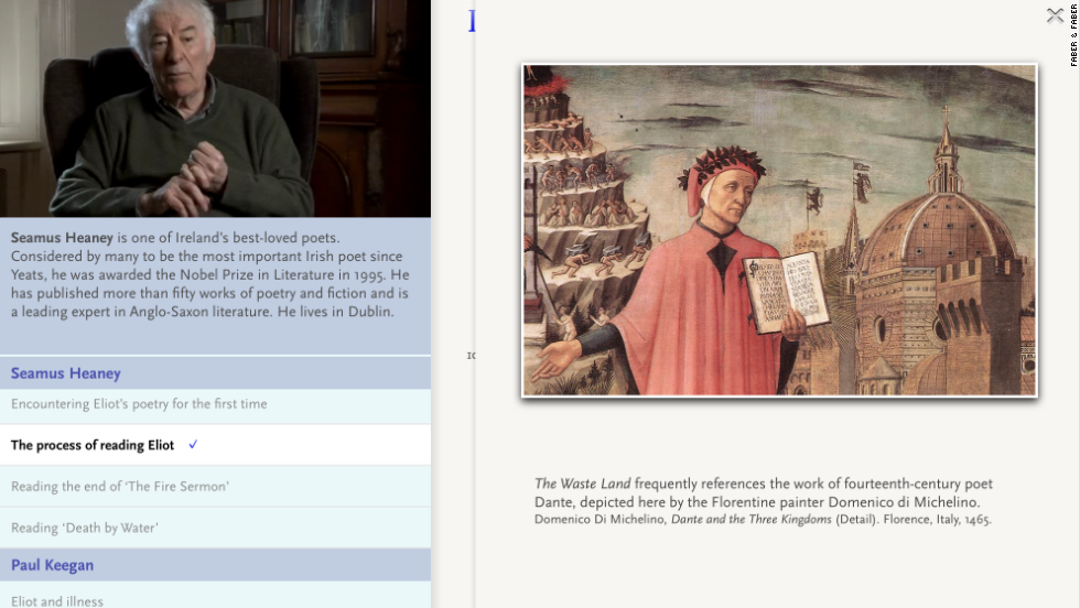 iPad adaptation of TS Eliot's The Wasteland provides educational accompaniment to help decipher the dense, epic poem.