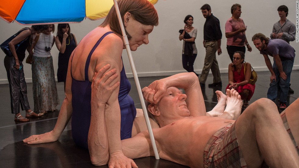 "Australian-born <a href=""http://www.theatlantic.com/infocus/2013/10/the-hyperrealistic-sculptures-of-ron-mueck/100606/"" target=""_blank"">Ron Meuck</a> led the way in hyper-realistic sculpting. His sculptures manipulate scale and age to create giant babies and infant-sized adults, among other works.<br />"