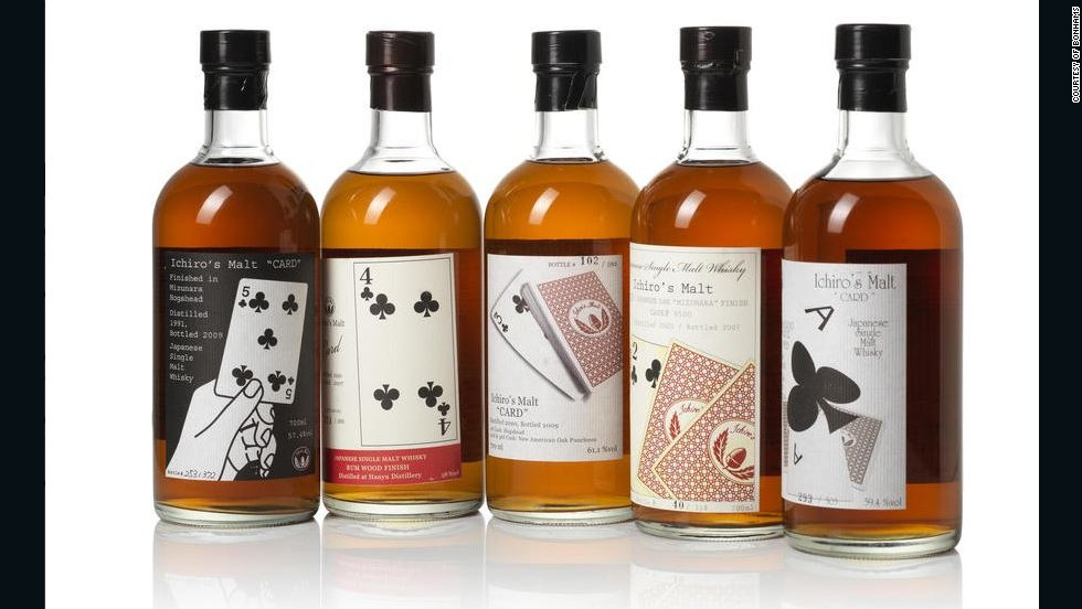 "Ichiro's Malt: Ace of Clubs is his most recent release, part of the 52-part Ichiro's Malt ""card series"". The Ace of Clubs edition proved to be so popular that prices shot up from around ¥9,000 ($84) in shops to over ¥30,000 ($280) on online auction sites."