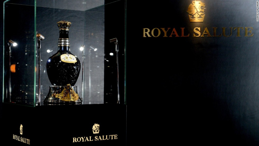 The Chivas Royal Salute: Tribute to Honor was made to celebrate the golden jubilee of Queen Elizabeth II in 2002, with only 21 bottles released around the world. Studded with 413 black and white diamonds, this edition retails for £150,000 ($244,000).