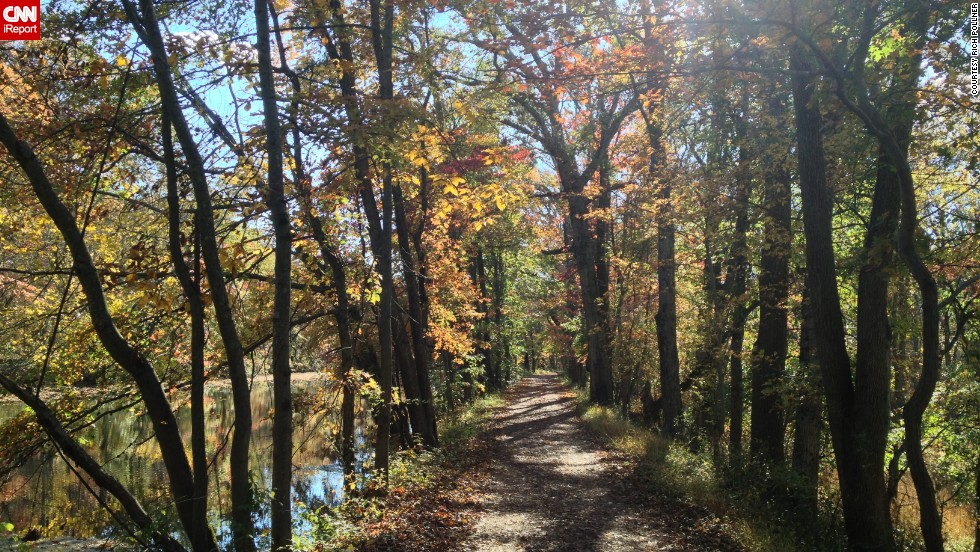 "Running along the Delaware and Raritan Canal in central New Jersey, <a href=""http://ireport.cnn.com/docs/DOC-862404"">Rich Pollner </a>photographed this scene in October 2012. He said this photo captures why he enjoys running in the fall."