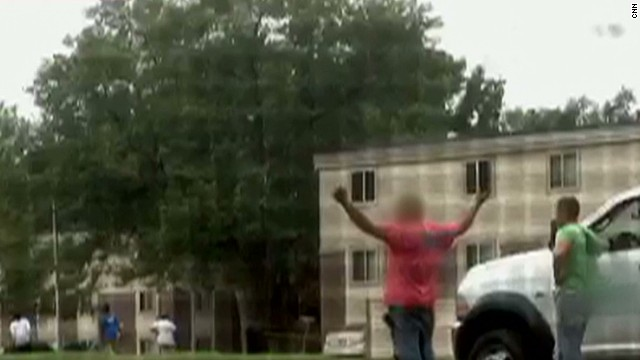Witnesses: Michael Brown's hands were up