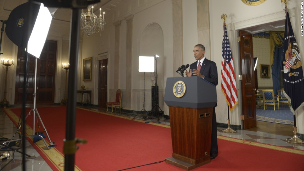 "Obama said the United States will meet ISIS ""with strength and resolve."""