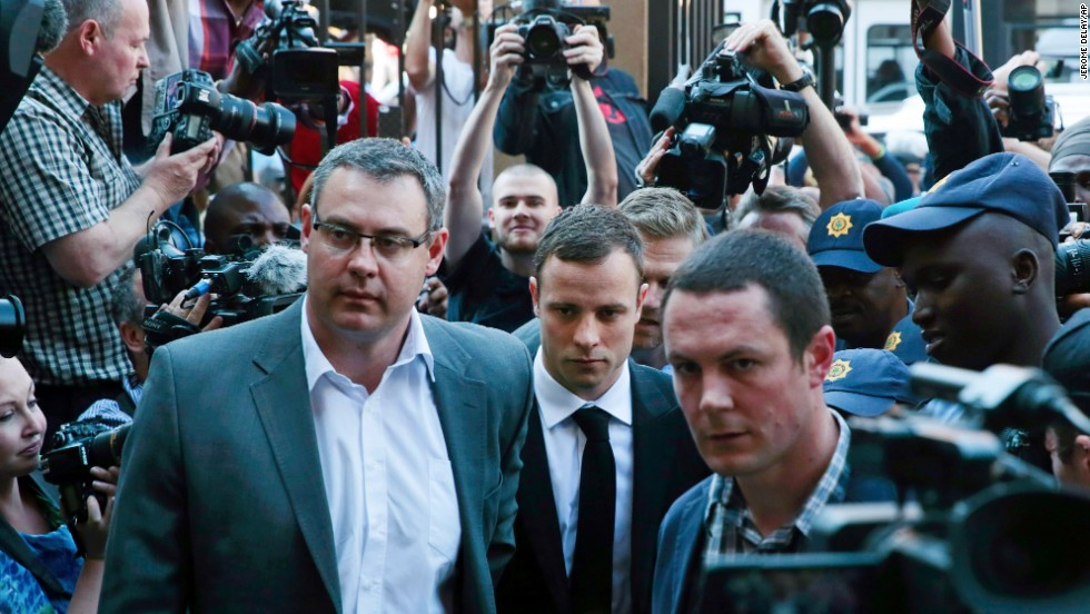 Pistorius arrives at court on September 11.