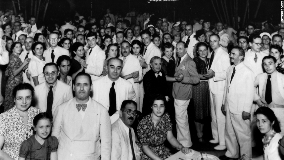 The Jewish refugees gather at an event in the Philippines in 1940.