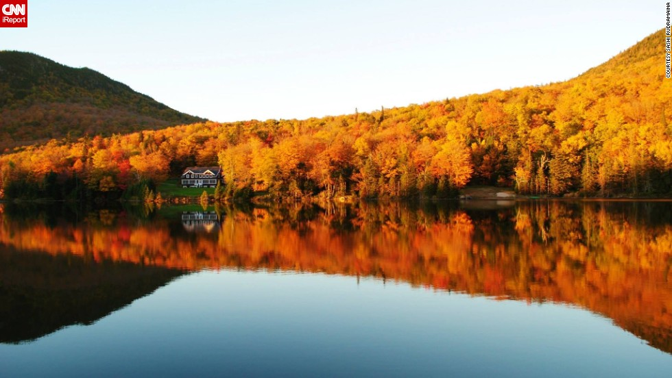 "Fall foliage is starting to appear in a few of the colder regions of the country. Get an early peek at autumn with these photos from seasons past. Driving through New Hampshire with his wife, <a href=""http://ireport.cnn.com/docs/DOC-1114472"">Sashi Rudramaina</a> took this photo on a journey between Gorham and Jericho state parks in late September 2013."