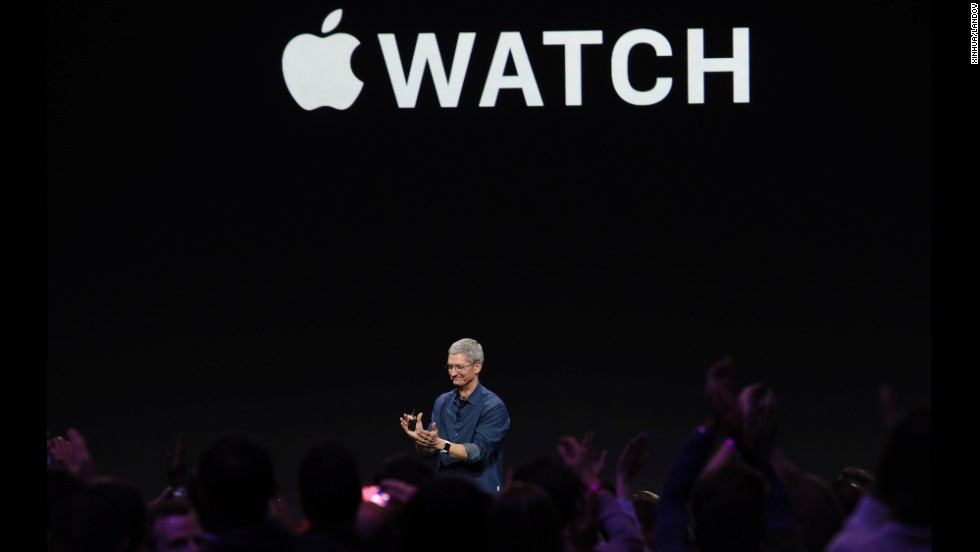 "Apple CEO Tim Cook introduces new products during an <a href=""http://www.cnn.com/2014/09/09/tech/gallery/apple-unveils/index.html"">Apple special event</a> Tuesday, September 9, in Cupertino, California. Apple unveiled two new iPhones, a smartwatch and a mobile payments platform."