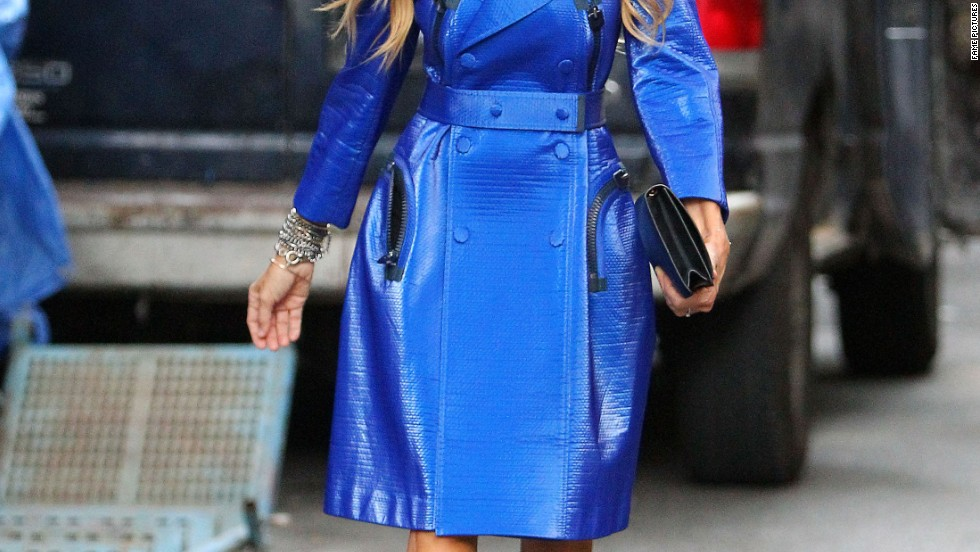 Sarah Jessica Parker is feeling blue during New York Fashion Week on September 11.