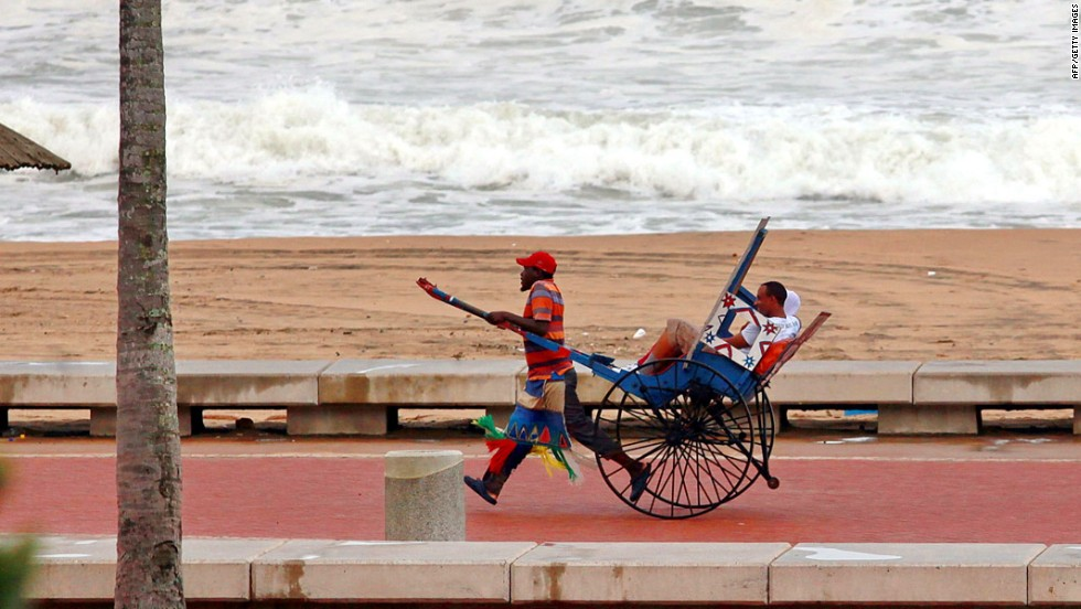 If it's too hot for a stroll along Durban's Golden Mile, flag a Zulu rickshaw. A century ago, more than 2,000 of them crowded the streets and docks. Now there are about 20 registered pullers.