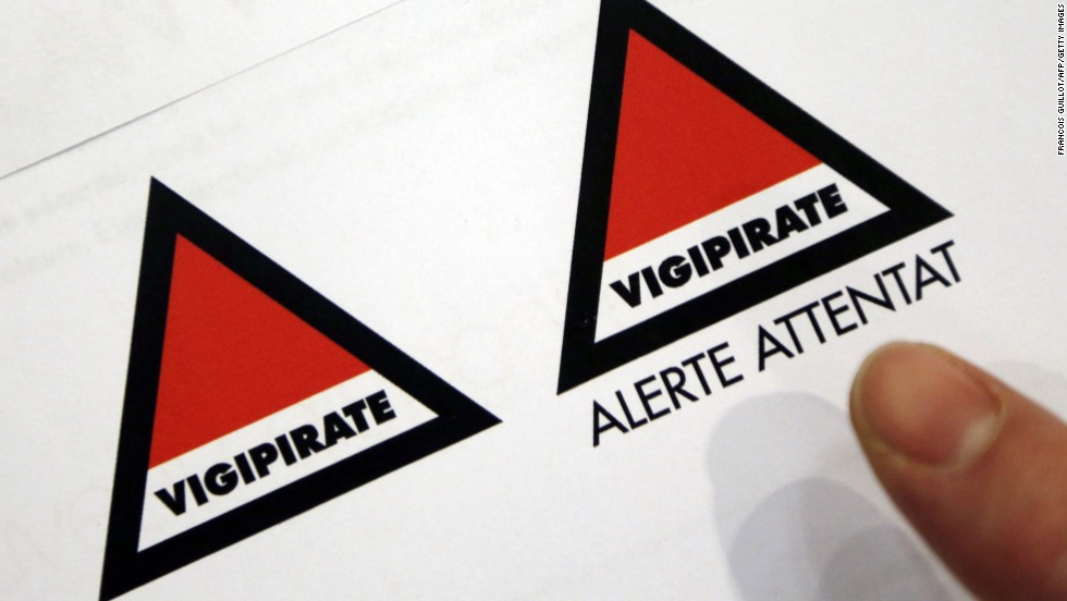 France updated its Vigipirate alert system earlier this year and abandoned its four color codes.