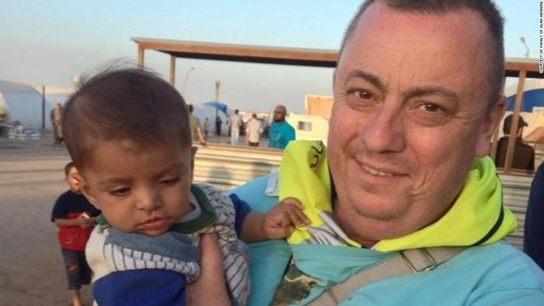 "Originally a taxi driver from the UK, <a href=""http://cnn.com/2014/10/03/world/meast/isis-alan-henning-beheading/"">Alan Henning</a> was volunteering to deliver food and water to people affected by the Syrian civil war. He traveled to the Middle East in December 2013, was taken hostage on Boxing Day and held for more than a year before being killed."