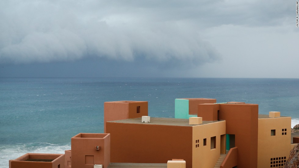 The storm approaches Los Cabos on September 14.