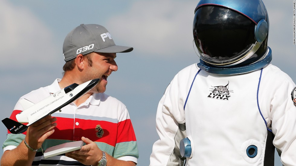Golfer Andy Sullivan had a close encounter at the KLM Open on Sunday...