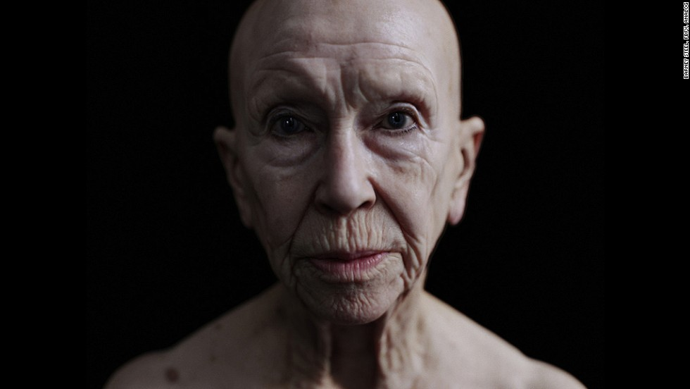 It's a hyper-real virtual 3-D scan of a human body, in this case, British actor Beryl Nesbitt.