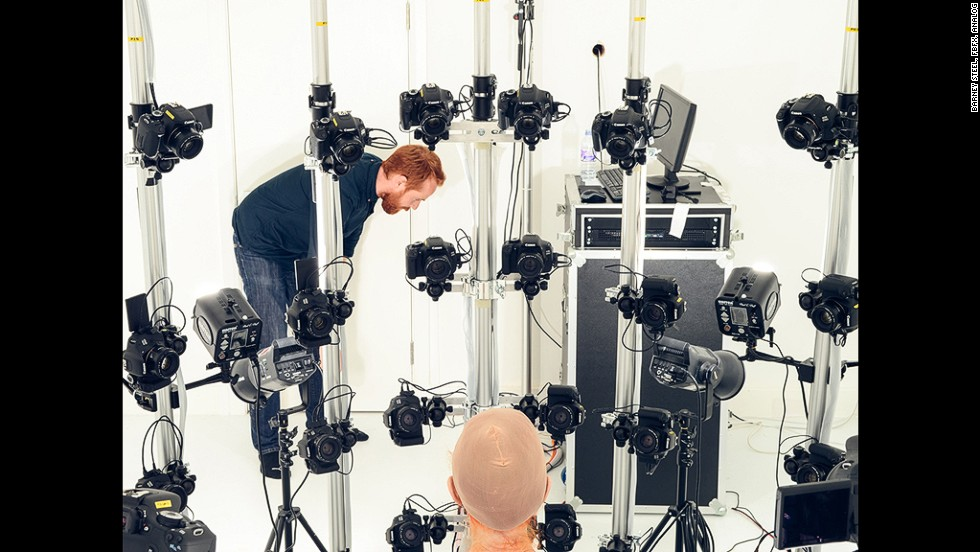 London-based creative studio Marshmallow Laser Feast used 94 high definition cameras to capture a likeness of Nesbitt's skin, for a music video.