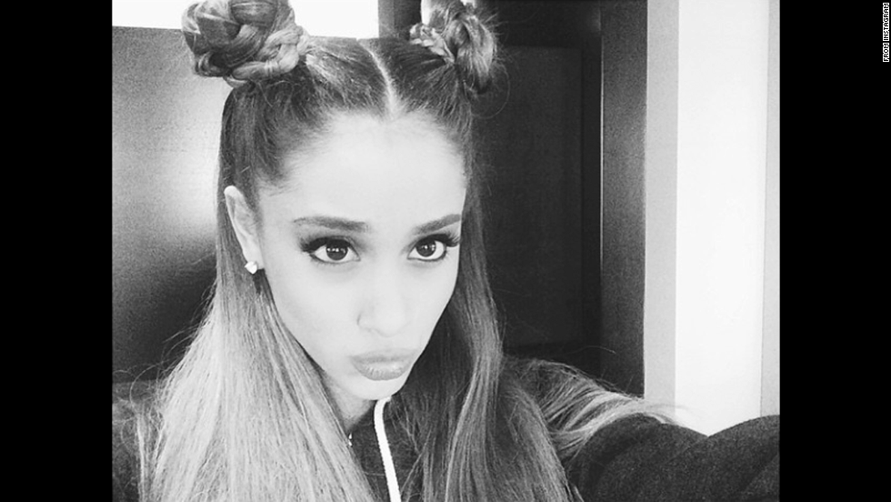 "Pop star Ariana Grande <a href=""http://instagram.com/p/szLAhTyWRy/"" target=""_blank"">posted a photo</a> of her hair up in buns on Thursday, September 11."