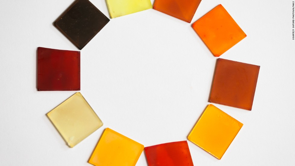 "<strong>The new color of clean energy</strong><br /><a href=""http://www.oxfordpv.com/"" target=""_blank""><br />Oxford Photovoltaics</a>, a spin-out from the University of Oxford, are using perovskite to develop colored and semi-transparent glass which works as a solar cell and could then be integrated into the facades of buildings and windows."