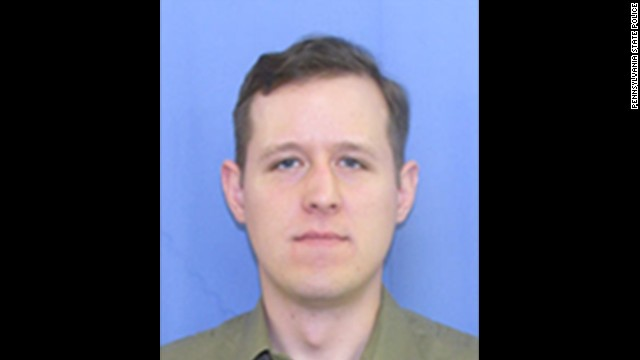 Eric Matthew Frein is wanted in connection with the shooting of two Pennsylvania State troopers at the Blooming Grove station