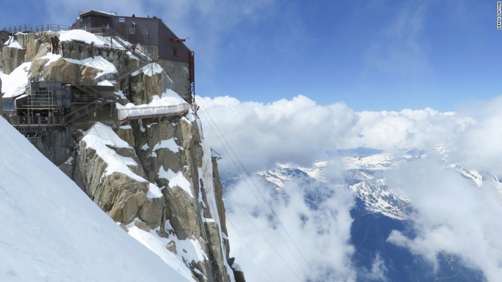 The steps at Janssen Observatory in Mont Blanc, France aren't the challenge. It's where they're located: at the summit of the tallest mountain in the Alps, open to the elements.