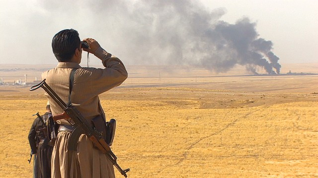 Peshmerga battle ISIS with aid from above