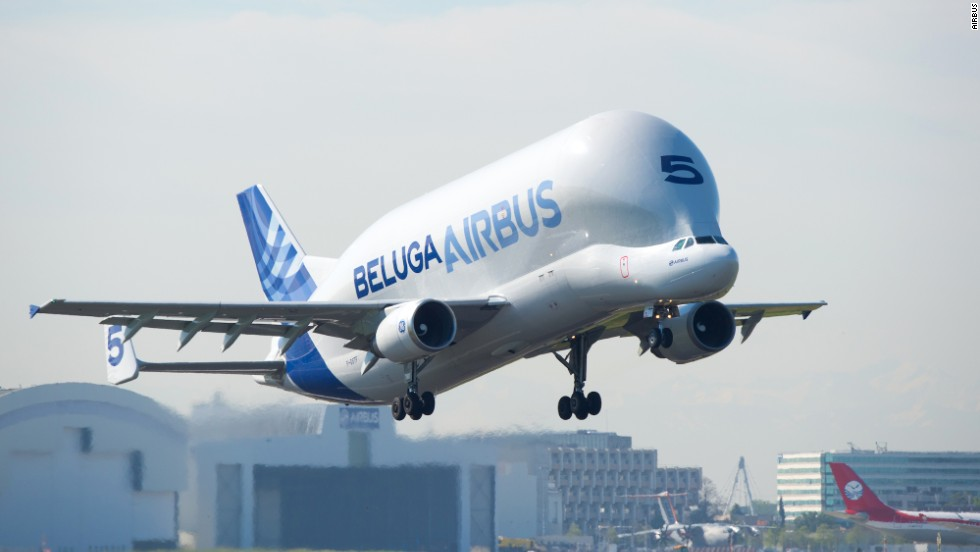 "The Beluga isn't serially produced, making each an ""artisan"" product. The A300-600ST Super Transporter can carry a payload of 47 metric tons (103,616 pounds) over a range of 1,500 nautical miles."