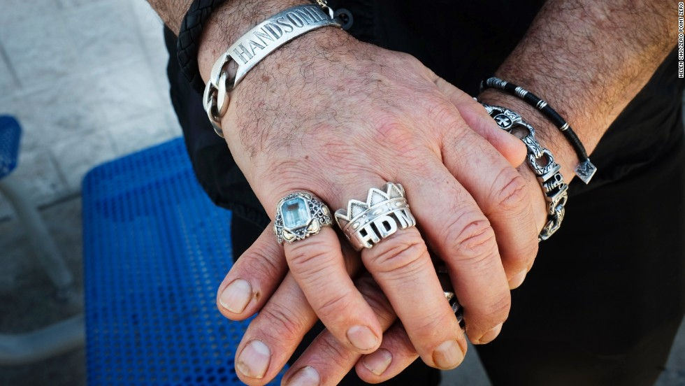 The rings of Handsome Dick Manitoba, a punk rock singer and radio personality from the Bronx.