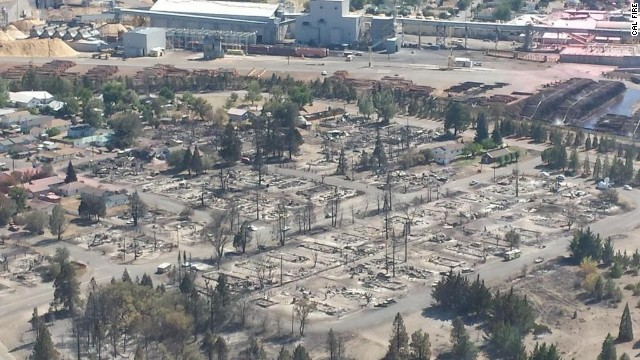 The Boles Fire burned through Weed, California