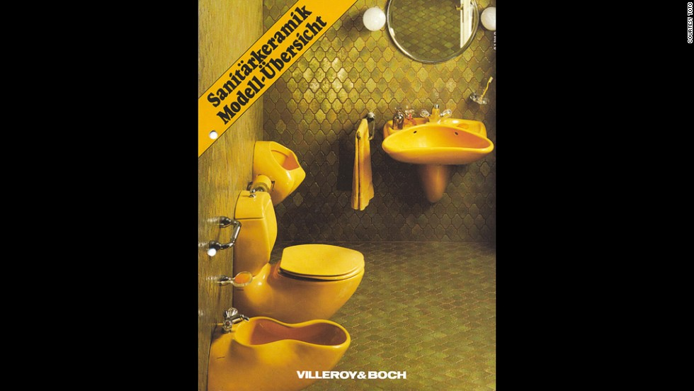 The beautification of the home (softening of the aesthetic) - Luigi Colani, bathroom series for Villeroy & Boch, 1975.